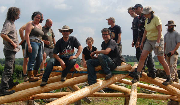 Reciprocal Roof Roundhouse Building Course at Wick Court